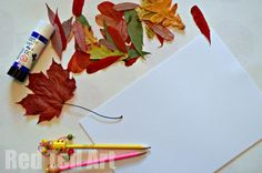 Creative Challenge: Make a Leaf Collage. Such a simple activity for this time of year. So fun and rewarding!
