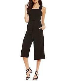 63e3bde7ba42 Maggy London Tie Waist Cropped Jumpsuit Jumpsuits For Women
