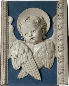 Andrea della Robbia, Putto (Pair of Cherubs), 1435 - 1525, glazed terracotta, 18 1/8 x 14 7/8 x 2 7/8 inches, Private collection. Photographs: Bruce Schwarz.