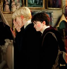 Photo Harry Potter and draco malfoy Harry Potter Tumblr, Harry Potter Comics, Draco Harry Potter, Harry Potter Ships, Harry Potter Pictures, Harry Potter Universal, Harry Potter World, Harry Potter Memes, Potter Facts