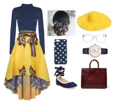 """Red, Yellow, and Blue"" by laney-light ❤ liked on Polyvore featuring WearAll, Steve Madden, Linda Farrow, Yves Saint Laurent, Kate Spade and Miu Miu"