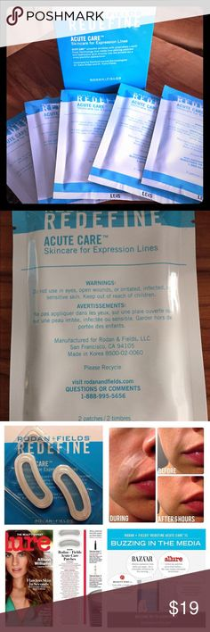 Rodan + Fields ACCUTE CARE STRIPS Posting is for 1 packet/2 patches. I have multiple and can sell multiple, if desired. Normally these retail with tax and S+H about $26 per packet, but sell in packs of 10. Great if you'd like to test them out! I'm offering a generous discount - no low ball offers will be accepted Makeup Face Primer