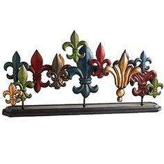 Fleur De Lis Home Decor | Fleur De Lis Metal Mantel Decor | Shop home, interior_design| Kaboodle