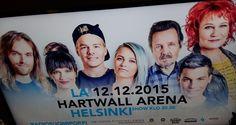 NEWS TV4 VAIN ELÄMÄÄ MUSIIKKI&Artistit LIVE KONSERTTI Hartwal Arena HELSINKI 12.12.2015  ARTISTIT myös ECKERÖ Laivoilla. INFO nelonen.fi