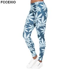 Fashion Mint Weed Printing Fitness High Stretch Leggins //Price: $19.77 & FREE Shipping //     #cannabisjewelry
