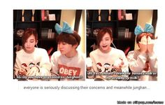 omg Junghan lol!>>>>>>>>>>>>>>>>>>THIS IS WHY MY ANGEL IS SO PERFECT