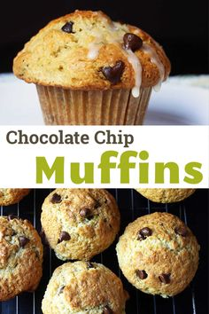 Enjoy a delicious and easy snack, breakfast, or dessert with these Chocolate Chip Muffins scented with coconut and lime. They come together easily from a homemade muffin mix and freeze beautifully. Homemade Muffin Mix, Homemade Muffins, Easy Baking Recipes, Muffin Recipes, Easy Snacks, Yummy Snacks, Icing Ingredients, Chocolate Chip Muffins, Mini Muffins