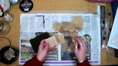 Teabag Art - Preparing the Teabags