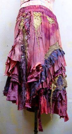 my gosh, i am SWOONING over this tattered purple skirt. it looks like a moonlit night incarnate! Boho Gypsy, Bohemian Mode, Gypsy Style, Hippie Boho, Bohemian Style, Boho Chic, My Style, Bohemian Skirt, Modern Hippie