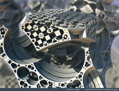 """Platinum Box 2"" by Matthew Haggett   por The Mandelbulb"