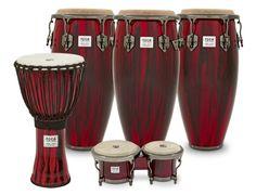 Preciosa serie de tambores conmemorativos del 20 aniversario de Toca Percussion. Al final de este vídeo puedes verlos y oirlos...     http://www.mundopercusion.com/percutube-videos-percusion/vervideos/2365/demos-workshops-clinics/ray-yslas-on-toca-percussion-custom-deluxe-congas-and-bongos.html