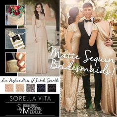 1b1f75730c893 Sorella Vita's modern metallic bridesmaid dress now available at The Bridal  Boutique by MaeMe. Available in gold, rose gold, platinum, sapphire, and  black!