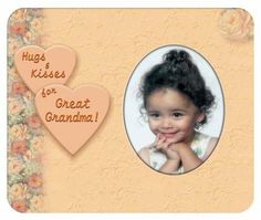 Hugs & Kisses for Great Grandma - Photo Magnet Frame by Expressly Yours! Photo Expressions. $2.99. Easy to Mail - fits standard envelope. Perfect with standard wallet photos. Sentiments for all the family. Fun way to share family photos. Your satisfaction always guaranteed. Showcase your favorite photos on the fridge easily with Photo Expression Magnets. Standard wallets fit perfectly behind the die-cut the oval opening... and are guaranteed not to fall off when you close the ...