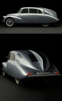 1940 Tatra // Classic & vintage car design – Cars is Art Retro Cars, Vintage Cars, Lamborghini, Ferrari, Art Deco Car, Strange Cars, Hispano Suiza, Engin, Unique Cars