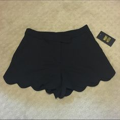 Black Flowy Scalloped Shorts Black scalloped shorts with 2 front pockets. Size 3. New with tags. Purchased from Nordstrom. Selling for less on Mercari. Want and Need Shorts