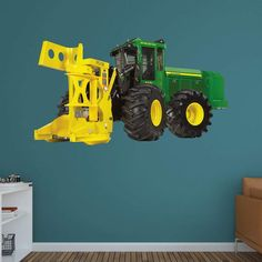 Fathead John Deere 643K Feller Buncher Wall Decal   1087 00006