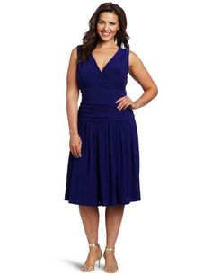 Jessica Howard Women's Plus-Size V-Neck Rouched « Clothing Adds Anytime