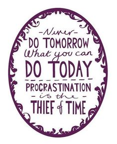 My new motto: What I'm not willing to do today isn't going to happen. So take action!
