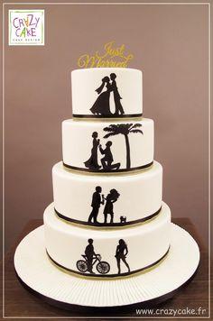 "Wedding Cake ""Silhouettes"""
