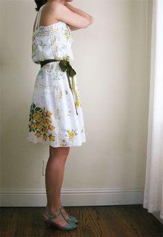 vintage hankies handkerchiefs dress