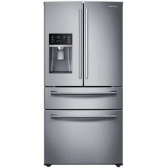 Shop Samsung 28.15-cu ft 4-Door French Door Refrigerator with Single Ice Maker (Stainless Steel) ENERGY STAR at Lowes.com