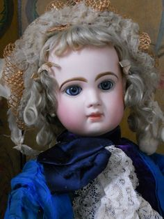 ~~~Hold for E. ~~ Very Lovely Blue- Eyed French Bisque BeBe Jumeau ~~~ from whendreamscometrue on Ruby Lane