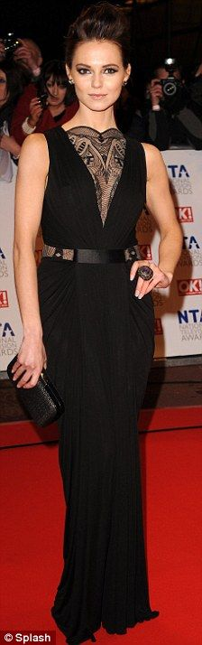 Kara Tointon in Alexander McQueen at the National Television Awards, January 2010