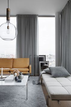 Snaps of a luxurious Stockholm apartment - COCO LAPINE DESIGNCOCO LAPINE DESIGN. Great design inspiration for mixing textures and fabrics in a family home. If you like this, we can help you create it for your space. Living Room Interior, Living Room Decor, Living Room Designs, Living Spaces, Living Rooms, Stockholm Apartment, York Apartment, Curtains Living, Grey Curtains