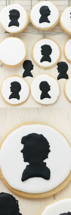 Royal Icing Sherlock Cookies (Cookie Geek #1)