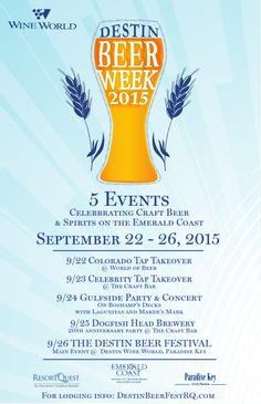 The 5th Annual Destin Beer Festival Returns on September 26th — Destin Shines