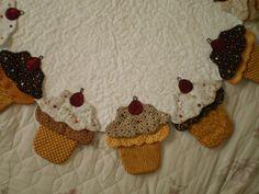 detalhe da toalha de cupcakes