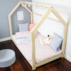 Kinderbett Kinderhaus Bett für Kinder 23 Dimensions BETT HOLZ 3 FARBEN weiß grau