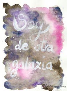LETTERING GALAXIA  #lettering #art #watercolors