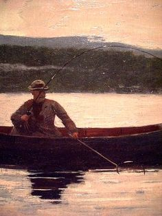 Winslow Homer: Playing a Fish (1875 & 1890s)