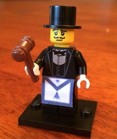 Hey, I found this really awesome Etsy listing at https://www.etsy.com/listing/181175539/lego-freemason-with-gavel-and-apron
