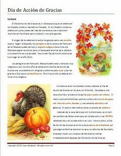 24 Dia De Accion De Gracias Ideas Spanish Thanksgiving Spanish Spanish Class