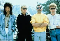 The members of Queen. They were one of the biggest bands in the world during the…