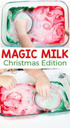 This Christmas magic milk science experiment is so awesome! Add a holiday spin to this classic science activity for kids and they are sure to have a blast! # Food and Drink activities for preschool Christmas Magic Milk Science Experiment Preschool Christmas, Toddler Christmas, Christmas Crafts For Kids, Christmas Fun, Xmas, Holiday Activities For Kids, Science Activities For Kids, Science Experiments Kids, Preschool Science