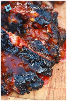 Barbecue Pork Ribs with Apricot-Bourbon Sauce Rib Recipes, Grilling Recipes, Great Recipes, Cooking Recipes, Favorite Recipes, Smoker Recipes, Recipes Dinner, Cooking Tips, Carne Asada