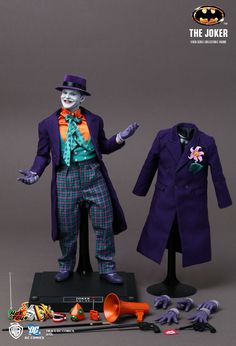 he Joker Collectible Figures from the Batman series have been receiving high accolade in the collectible market. Amid highest anticipation, Hot Toys again steps its foot into the Batman series, presenting the long-awaited DX The Joker Collectible Figure from the Batman movie directed by Tim Burton in 1989 with the likeness firstly granted by renowned actor Jack Nicholson for developing the 1/6th collectible figure.