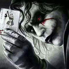 Art inspired by The Joker played by Heath Ledger in \