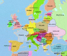 Map of europe with france highlighted in red france pinterest history map of europe 2005ad gumiabroncs Images