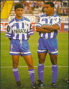 Bebeto y Mauro Silva (de izda. a dcha.)