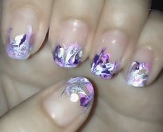 Marble french nail art