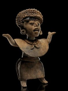 "wiredforlight: "" Tell me this isn't the sassiest ancient Mesoamerican sculpture (Classic Veracruz figure from Las Remojadas) "" very sassy"