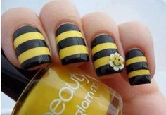 nails, nails, nails, #nails Perfect for a Honey Bee, Honey I Love You theme wedding.    Jevel Wedding Planning