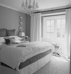 Interior: Gray and White Bedroom Ideas ~ Light Gray Bedroom on . - Interior: Gray and white bedroom ideas ~ Light gray bedroom on …, - Black And Silver Bedroom, Light Gray Bedroom, Grey Room, Bedroom Black, Master Bedroom Grey, White And Gray Bedding, Grey Bed Room Ideas, Spare Bedroom Ideas, Bedroom Ideas For Couples Grey