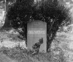 Mary Surratt's final resting place -- where her remains were moved years after her execution -- is at Mount Olivet Cemetery in Washington, DC. Courtesy Library of Congress.