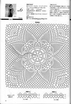 Knitting of a beautiful Pineapple pattern 2013 - understatement - understatement Filet Crochet, Crochet Wool, Crochet Cushions, Crochet Chart, Crochet Jacket, Crochet Pillow, Crochet Diagram, Thread Crochet, Crochet Motif