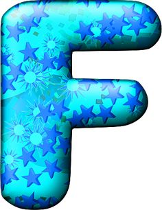 Presentation Alphabets: Party Balloon Cool Letter F